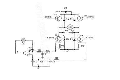 电流环闭回路电路设计概念,是针对数位舵机马达的电流损耗来做侦测