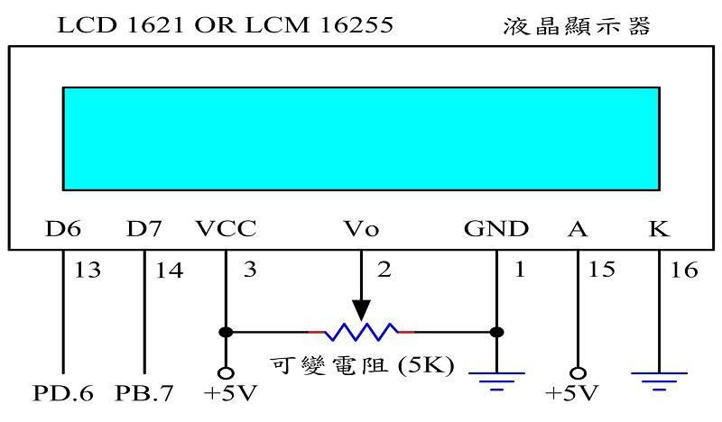 图13 : 整合型 lcd 之控制电路图