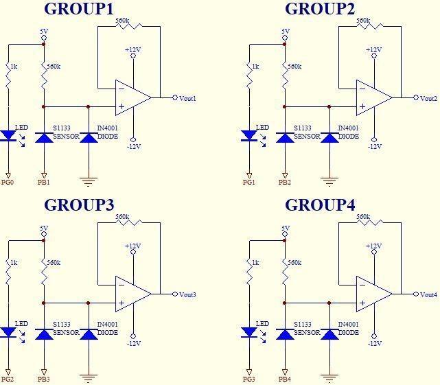 图10 : 光检测器之实验电路图