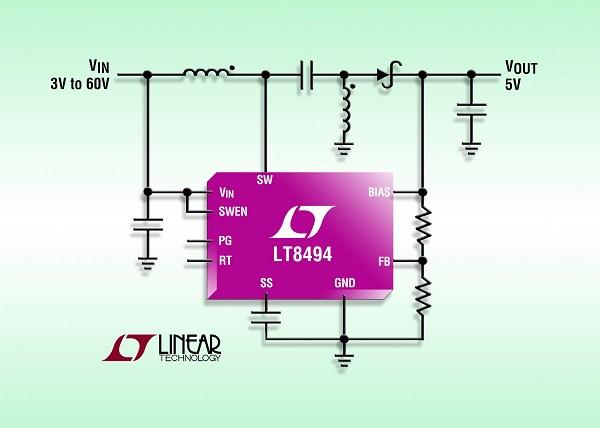 凌力尔特推出2a,70v sepic/升压dc/dc 转换器
